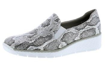 Rieker '53766' Ladies Shoes (White Print)