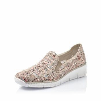 Rieker '53766' Ladies Shoes (Beige Multi)