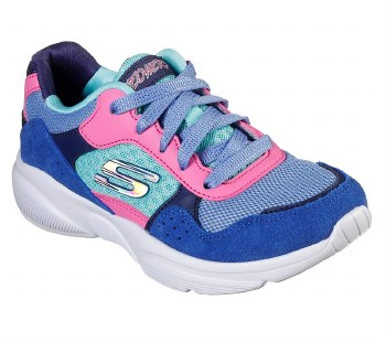 Skechers 'Meridian - Charted' Girls Shoes (Blue Multi)