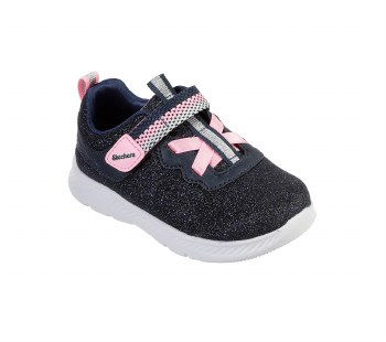 Skechers 'Comfy Flex 2.0 - Lucky Sparkles' Girls Trainers (Navy)