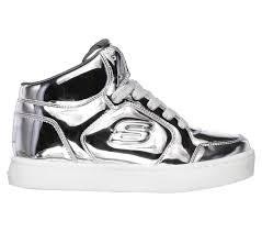 Skechers 'S Lights: Energy Lights - Eliptic' Girls Boots (Silver)