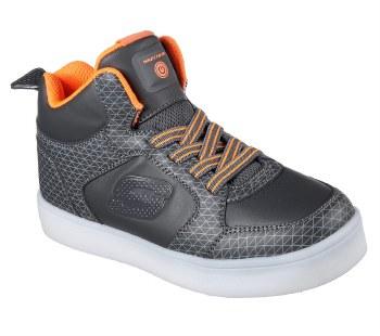 Skechers 'S Lights: Energy Lights - Tarvos' Boys Boots (Grey/Orange)