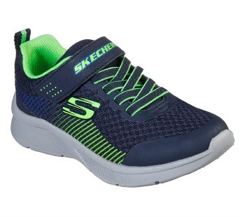 Skechers 'Microspec - Gorza' Boys Trainers (Navy/Lime)