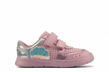 Clarks 'Ath Shell Toddler' Girls Shoes (Pink)