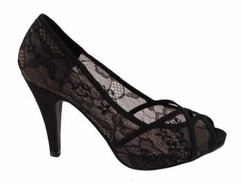 Barino '351' Ladies Heels (Black)