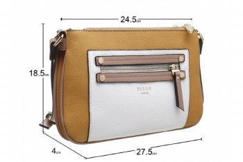 Bessie London 'BW4324' Ladies Handbag (Yellow))