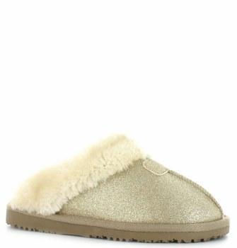 Ella Shoes 'Sparkle' Ladies Slippers (Gold)