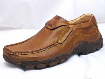Goor '03' Mens Slip-On Shoes (Tan)