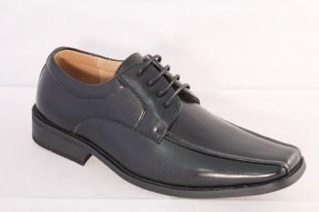 Goor '924' Boys Lace-Up Shoes (Black)
