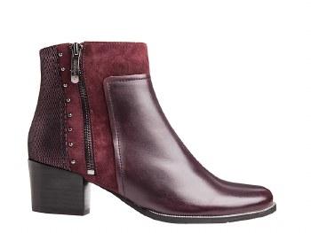 Regarde Le Ciel 'Isabel' Ladies Ankle Boots (Bordo)