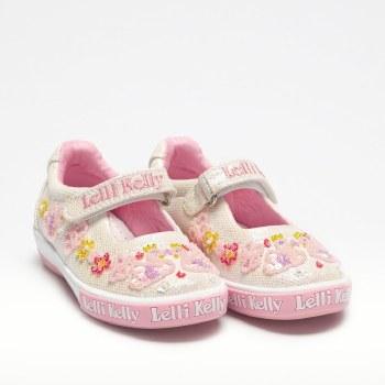 Lelli Kelly '1074 Swans' Girls Shoes (Silver Multi)