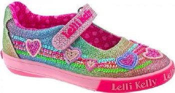 Lelli Kelly '5072' Girls Shoes (Multi Glitter)