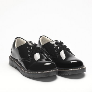 Lelli Kelly '8287 Rochelle' Girls School Shoes (Black Patent)
