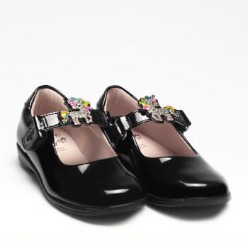 Lelli Kelly '8311 Bonnie' Girls School Shoes (Black Patent)
