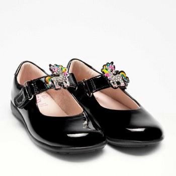 Lelli Kelly '8341 G Bonnie' Girls School Shoes (Black Patent)