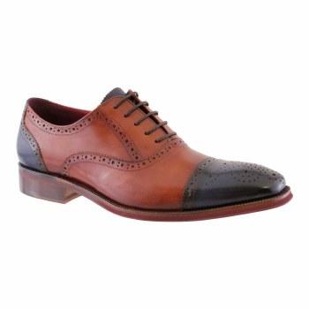 Morgan & Co '802' Mens Shoes (Tan/Navy)