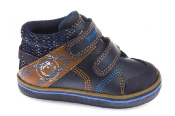 Pablosky '964525' Boys Boots (Navy/Brown)