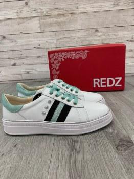 Redz 'CX407' Ladies Shoes (White/Navy)
