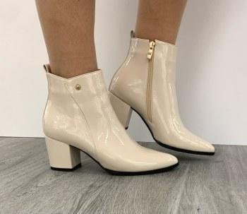 Redz 'X3933' Ladies Ankle Boots (Off White)