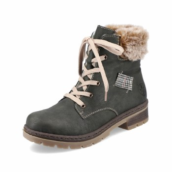 Rieker 'Y7411' Ladies Ankle Boots (Forest Green)
