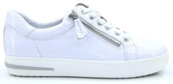 Caprice '23753' Ladies Trainers (White Patent)