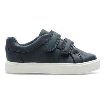 Clarks 'City OasisLo' Boys Shoes (Navy)