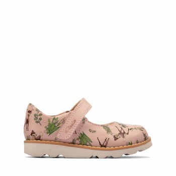 Clarks 'Crown Deer Toddler' Girls Shoes (Pink Combi)