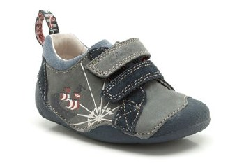Clarks 'Cruiser Ship' First Shoes (Navy Combi)