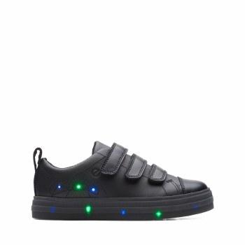 Clarks 'Flare Bright Kid' Boys School Shoes (Black)