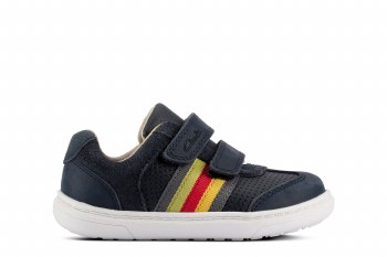 Clarks 'Flash Beau Toddler' Boys Shoes (Navy Leather)