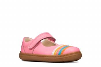 Clarks 'Flash Rain Toddler' Girls Shoes (Bright Pink)