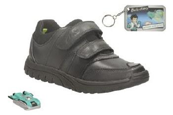 Clarks 'JackSpring Inf' Boys School Shoes (Black)