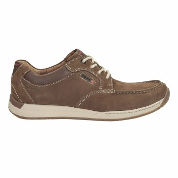 Clarks 'Javery Time' Mens Shoes (Brown Tumbled)
