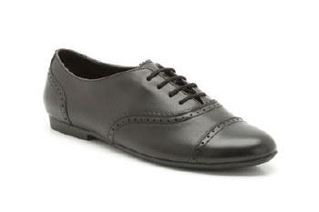 Clarks 'No Ties' Girls School Shoes (Black)