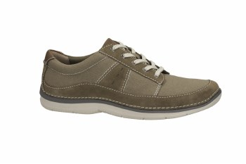 Clarks 'Ripton Plain' Mens Canvas Shoes (Olive)