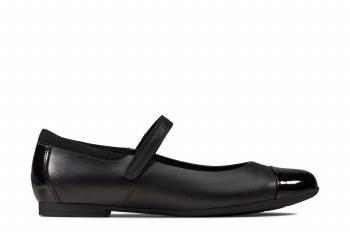Clarks 'Scala Gem Youth' Girls School Shoes (Black)