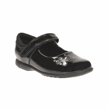 Clarks 'TrixiCandy Inf' Girls School Shoes (Black Patent)
