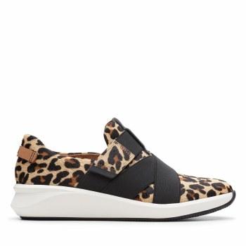 Clarks 'Un Rio Strap' Ladies Shoes (Leopard Print)