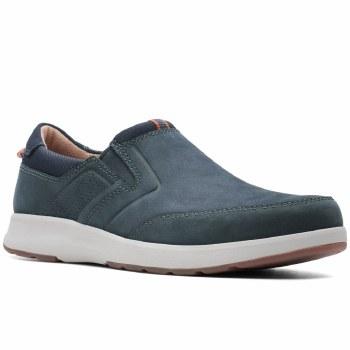 Clarks 'Un Trail Step' Mens Shoes (Navy Nubuck)