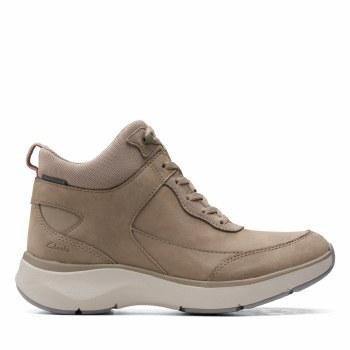 Clarks 'Wave2.0 Mid' Ladies Ankle Boots (Sage Combi)