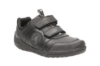 Clarks 'Wing Smart Jnr' Boys School Shoes (Black)