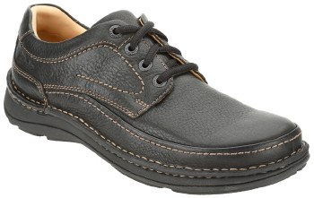 Clarks 'Nature Three' Casual Leather Shoe (Black)