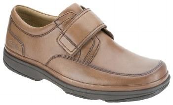 Clarks 'Swift Turn' Wide Fitting Mens Shoe (Mahogany)