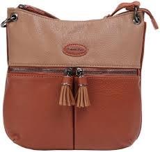 David Jones '6123' Crossbody Bag (Brown)