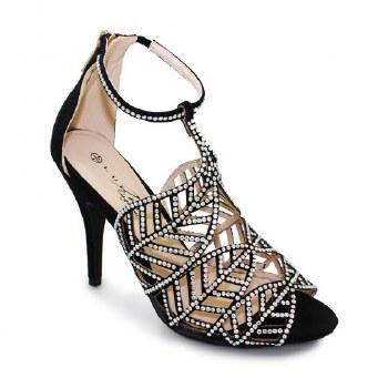 Lunar 'Ibiza' Ladies Heels (Black)