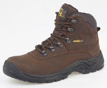 Grafters 'M216' Hiking Boot (Brown)