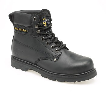 Grafters 'M538' Safety Toe Boot (Black)