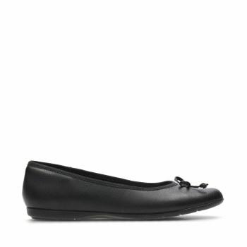 Clarks 'Jesse Shine' Girls School Shoes (Black Leather)