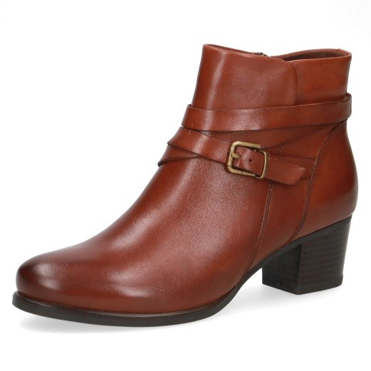finest selection better new york Caprice '25323' Ladies Ankle Boots (Cognac)