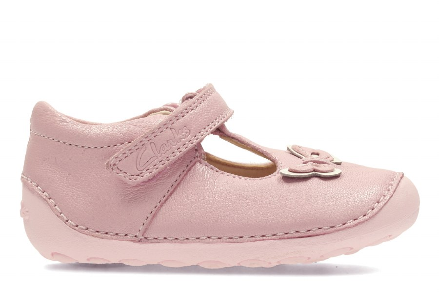 retail prices discover latest trends pretty and colorful Clarks 'Little Wow' Girls Pre Walker Shoes (Baby Pink)